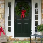 The Very First Holiday Step For Decorating Front Door