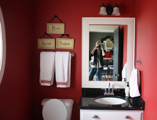 The Yellow Cape Cod Powder Room Makeover Sherwin Williams And
