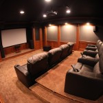 Theater Room But Wanted Add Cherry Woodwork Enhance The Mhi