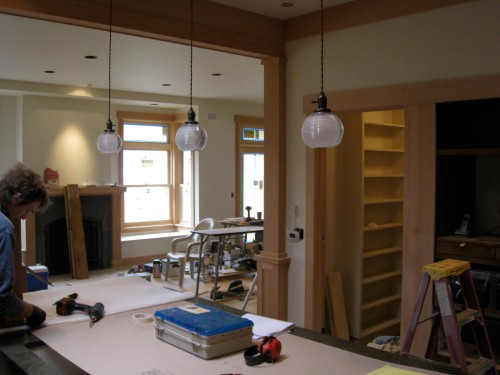 This Taken From The Kitchen And Shows Antique Pendant Lights