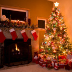 Traditional Christmas Tree Setting Fireplace Inspired Home