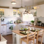 Traditional Cottage Kitchen White Furniture Complemented Wood