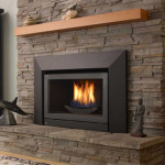 Traditional Living Room Chair And Stone Gas Fireplace Inserts