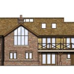Traditional Three Storey House Sloping Site Homebuilding