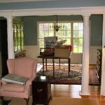 Transform Plain Living Room Dining Columns Raised
