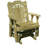 Treated Pine Fanback Glider Chair