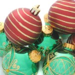 Tree Decorations Pile Red And Green Christmas Ornaments