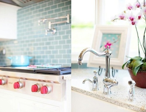 Turquoise Subway Tile Splashback Could Live That