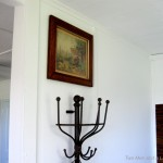Two Men And Little Farm Wall Mounted Coat Rack