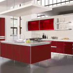 Unique And Modern Red Kitchen Cabinets Luxury Design Ideas