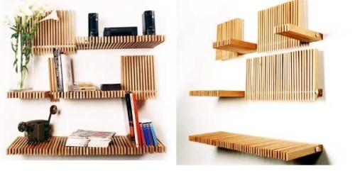 Unique Bookshelves Designs And Creative Dvd Storage Ideas Lenga