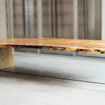 Unique Contemporary Solid Coffee Table Rustic Wood Furniture