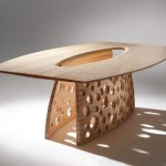 Unique Dining Table Perforated Leg John Lee