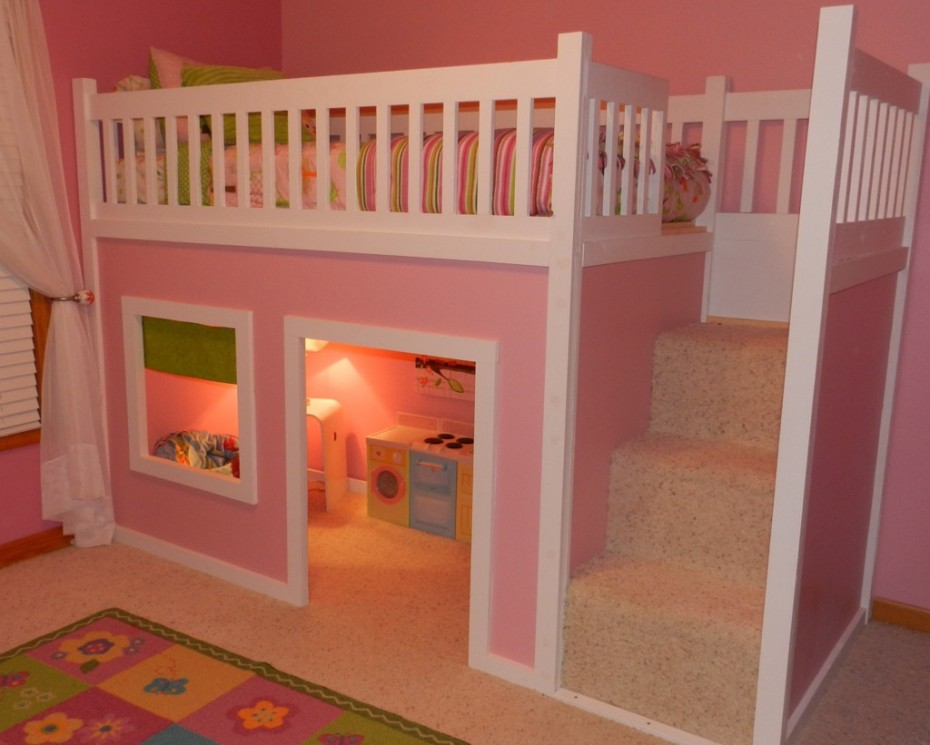 Unique Girls Bunk Beds For Your Cool Pink Girl