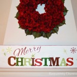 Unremarkable Decorating Cheat Merry Christmas Sticker Sign
