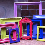 Upcycled Vintage Frame Set Funky Home Decor Unique Frames Wall