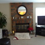 Update Brick Fireplace Before After Ideas
