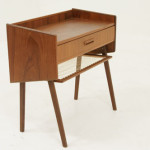 Very Cute Little Danish Teak Bedside Table Shelf Great Lines And