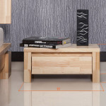 Vinci Low Ash Bedside Table Dimensions