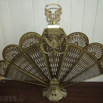 Vintage Brass Peacock Fireplace Screen For Sale Dundalk Louth From
