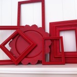 Vintage Frames Little Red Riding Hood Funky Home Decor Bright