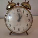Vintage Gabriel Alarm Clock From The Traditional Twin Bells Top