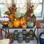 Vintage Table Used For More Seasonal Display Well Place