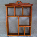 Vintage Wall Hanging Sectional Shelf Unit Heart Shaped Cut Out