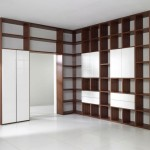 Wall Mounted Bookshelves Designs Brown