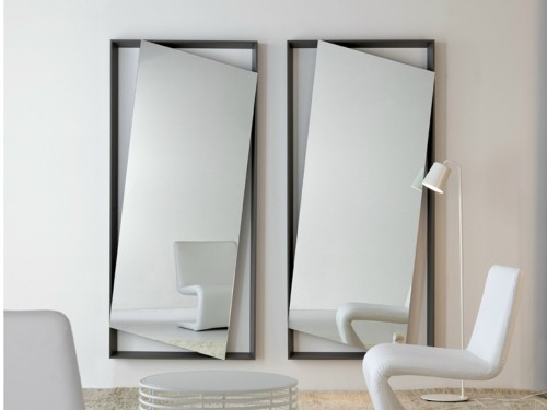 Wall Mounted Mirror Hang Bonaldo Design Andrea Lucatello