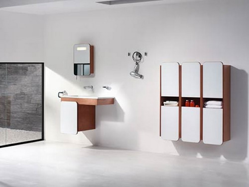 Wall Mounted Vanity Sink And Cabinets Furniture Bathroom Design The