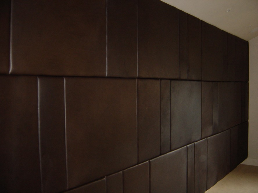 Wall Panels For Bedroom Brown Leather Padded Modern