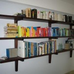 Walnut Wall Hanging Book Shelves Style