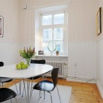 White Apartment Small Dining Room Design Ideas Home