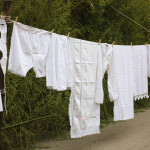 White Clothing Hanging Out Dry The Line