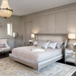 White Color Scheme Double Bed Bedroom And Side Tables