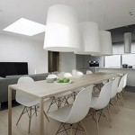 White Contemporary Dining Sets Modern