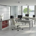 White Contemporary Home Office Furniture