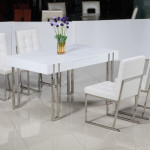 White High Glossy Modern Dining Sets China Household