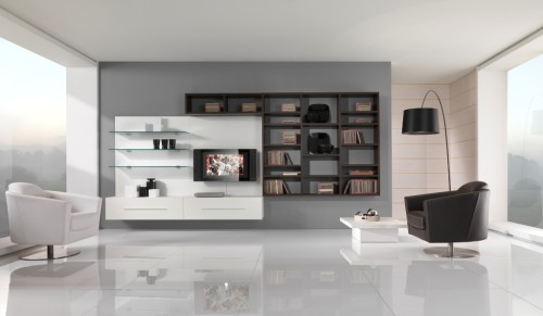 White Interior Design Black And Living Room Giessegi