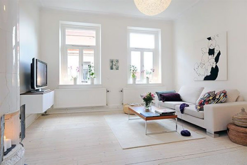 White Interior Design Simple Living Room Ideas And Pictures