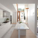 White Kitchen High Ceilings Large Window And Cozy