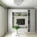 White Living Room Design Small Apartment Interior