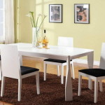 White Modern Dining Room Furniture Sets Stating Your Style