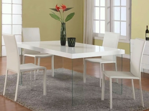 White Modern Dining Set