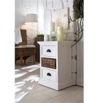 White Painted Solid Wood Bedside Table Home Decor