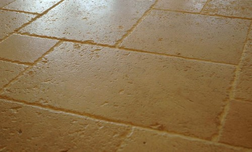 White Travertine Antique Pattern Floor Detail