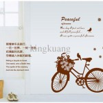 Wholesale Wall Stickers Buy Bicycle Stereo Creative