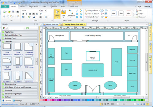 Why Edraw The Best Software Draw Store Layout Try Free