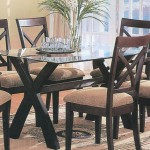 Wood Base Glass Top Dining Table Zutux Furniture